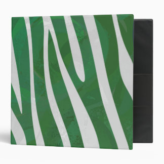 """Impresión verde y blanca de la cebra carpeta 2"""""""