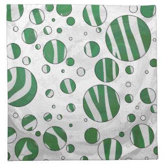 Impresión verde y blanca de la cebra servilleta