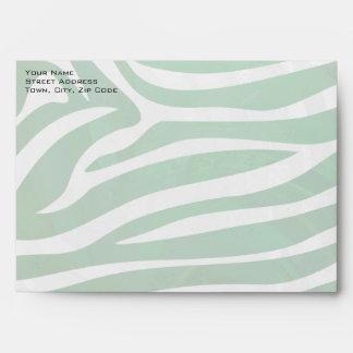 Impresión verde y blanca de la cebra