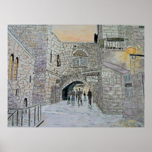Impresión vieja de Jerusalén de la ciudad Impresiones