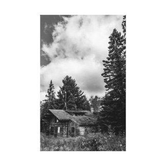 Impresión vieja de la lona de la cabina B&W Impresiones En Lona