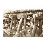 Impresión vieja de la lona del puente del carril impresión en lona estirada