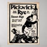 Impresión vieja de Pickwick Rye Liqour del vintage Poster