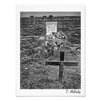 Impresión vieja del arte del cementerio fotografía