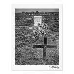 Impresión vieja del arte del cementerio fotos