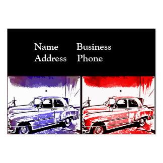 Impresión vieja del arte pop de la acuarela del co plantillas de tarjetas de visita