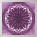 Impresión violeta del extracto de los pétalos impresiones