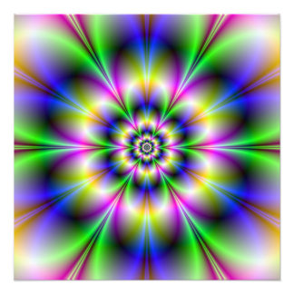 Impresión violeta y azul verde de la foto de la fl