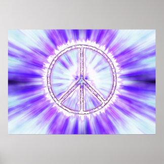 Impresión viva del poster del signo de la paz de l