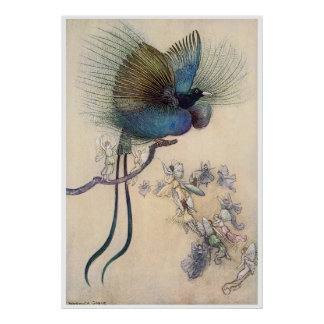 Impresión Warwick Goble de la ave del paraíso Póster