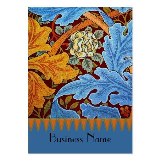 Impresión William Morris del vintage de la tarjeta Tarjetas De Visita Grandes
