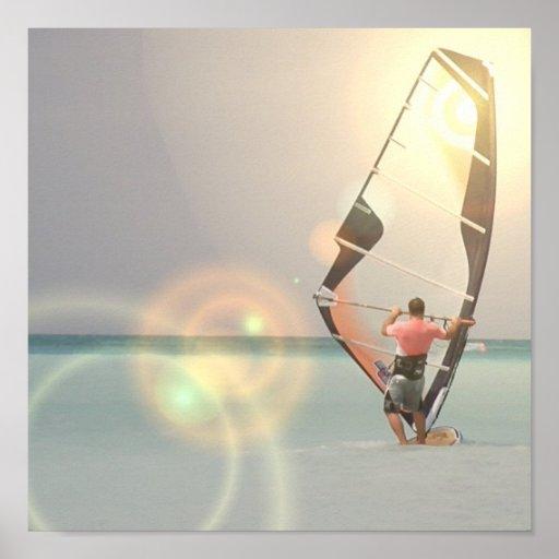 Impresión Windsurfing del poster del deporte