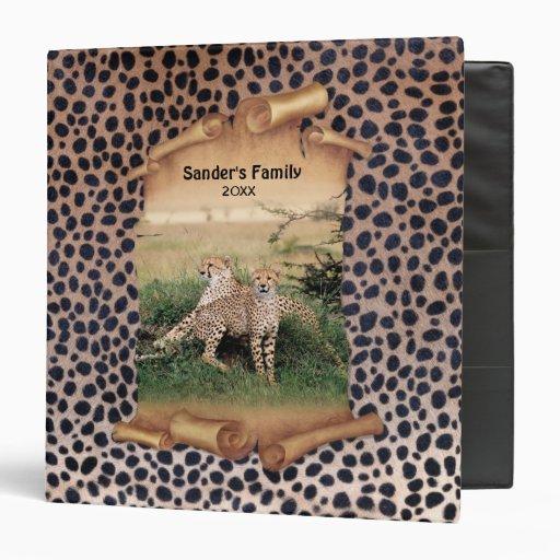 Impresión y bandera - personalizar del guepardo