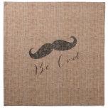 Impresión y bigote rústicos de la arpillera servilletas