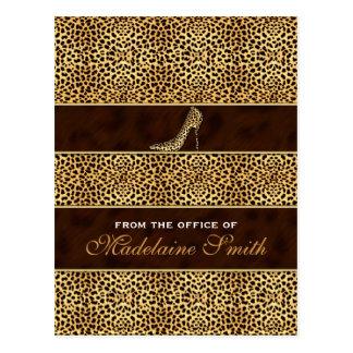 Impresión y estilete femeninos y con clase del tarjetas postales