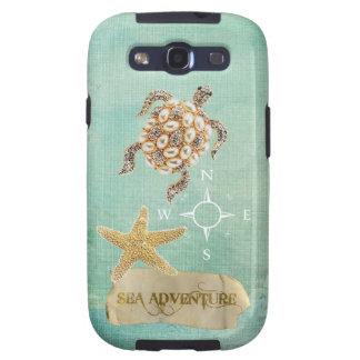 Impresión y estrellas de mar de la joya de la tort galaxy SIII protector