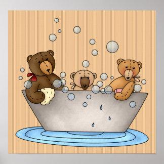 Impresión y poster de Bathtime del oso de peluche