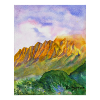Impresión y poster de Kauai de los acantilados de