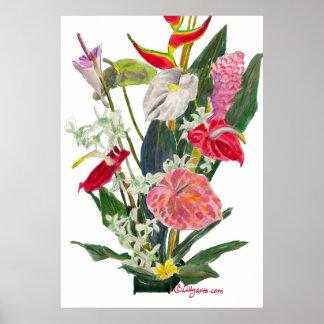 Impresión y poster de la acuarela de las flores de