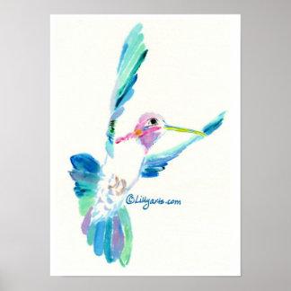 Impresión y poster de la libración del colibrí