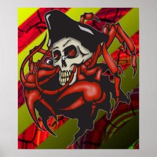 Impresión y poster malhumorados del pirata