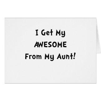 Impresionante de tía tarjeta de felicitación