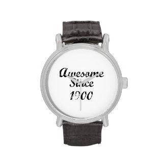 Impresionante desde 1900 reloj de mano