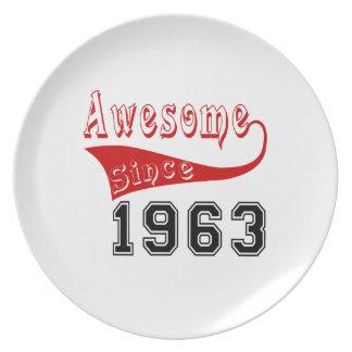 Impresionante desde 1963 plato de cena