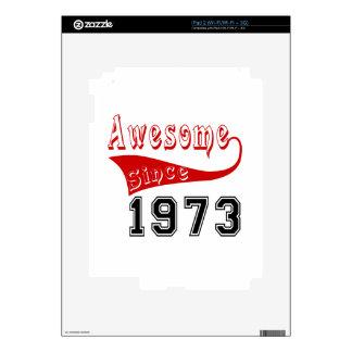 Impresionante desde 1973 iPad 2 calcomanía