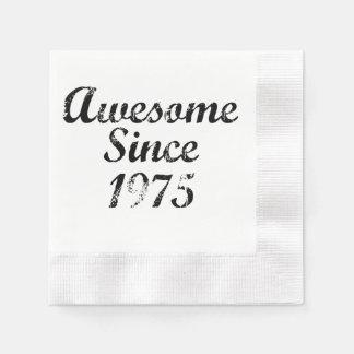 Impresionante desde 1975 servilletas desechables