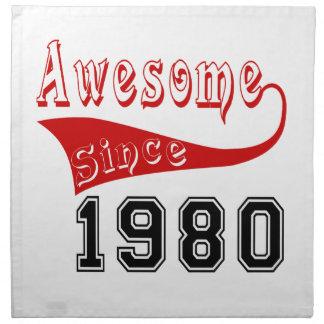 Impresionante desde 1980 servilletas