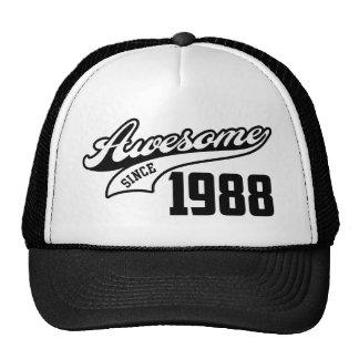 Impresionante desde 1988 gorras de camionero