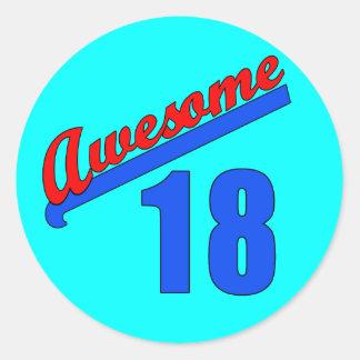 Impresionante en 18 años del décimo octavo cumplea etiqueta redonda