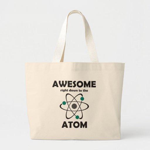 Impresionante hasta el átomo bolsas lienzo