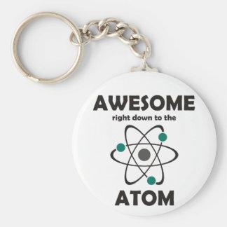 Impresionante hasta el átomo llaveros