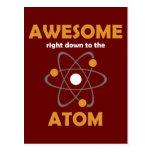 Impresionante hasta el átomo tarjetas postales