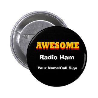 Impresionante - jamón de radio pin redondo de 2 pulgadas