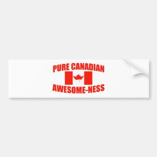 Impresionante-ness canadiense puro pegatina de parachoque