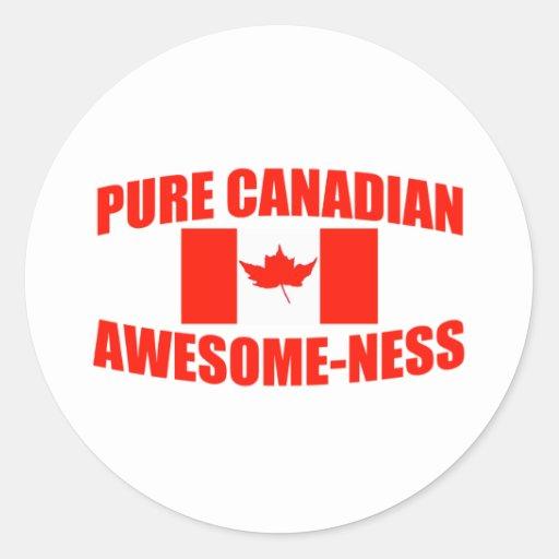 Impresionante-ness canadiense puro etiqueta