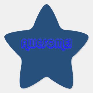 ¡Impresionante retro! estrella 80s Calcomanía Forma De Estrellae