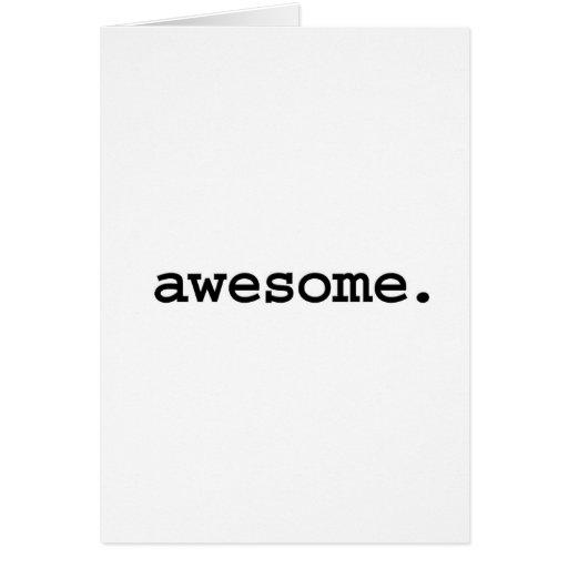 impresionante tarjeta de felicitación