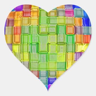 Impresiones abstractas de las camisetas de los pos pegatina corazón personalizadas