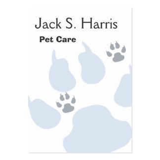 Impresiones animales de la pata del gato del perro tarjetas de visita grandes