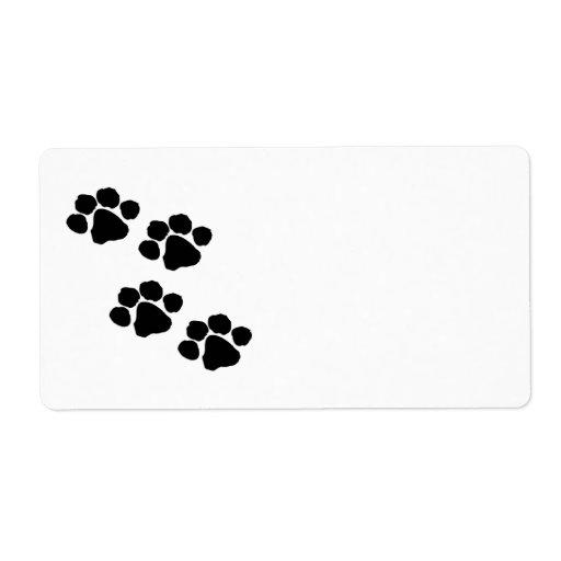 Impresiones animales de la pata etiquetas de envío