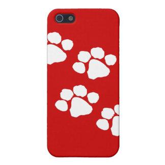 Impresiones animales de la pata iPhone 5 cárcasas