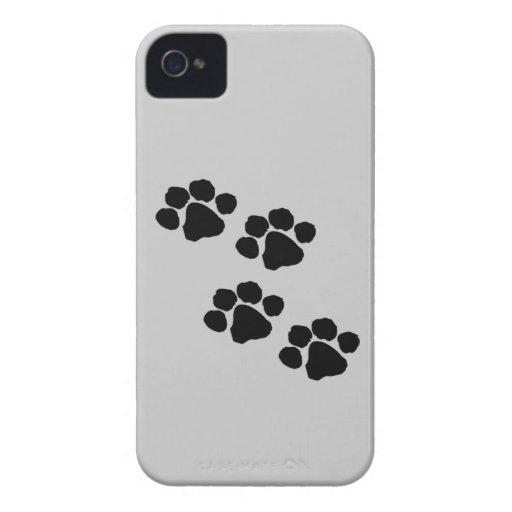 Impresiones animales de la pata iPhone 4 fundas