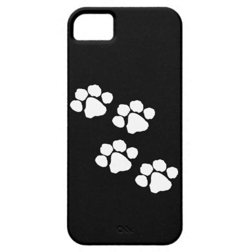 Impresiones animales de la pata iPhone 5 carcasas