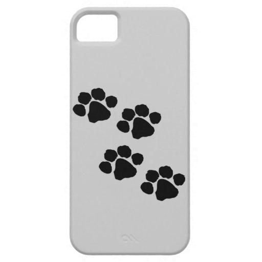 Impresiones animales de la pata iPhone 5 fundas