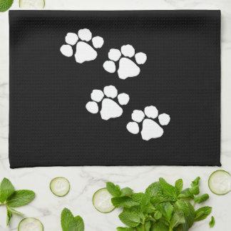 Impresiones animales de la pata toalla de cocina