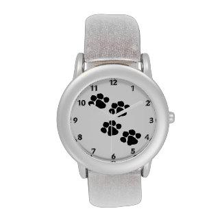 Impresiones animales de la pata relojes de pulsera